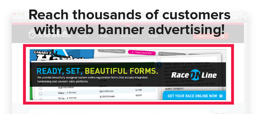 Reach thousands of customers with web banner advertising
